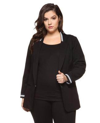 Women's plus size classic black blazer