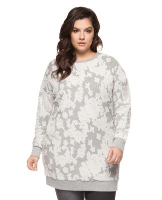 Women's plus size jacquard print knit top