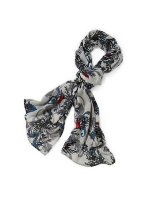 Women's bird print scarf