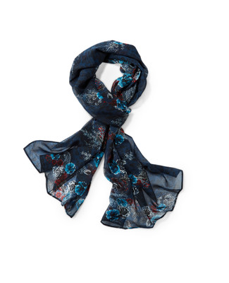 Women's floral paisley scarf