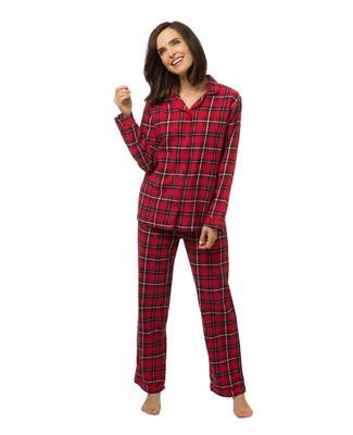 Women's plaid flannel pyjama set