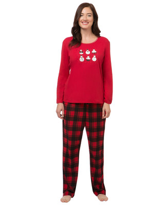 Women's winter plaid pyjama set