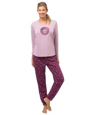 Women's purple shooting stars pyjama set