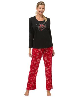 Women's winter snowflake pyjama set