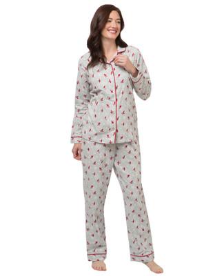 Women's winter holidays flannel pyjama set