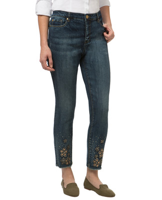 Women's embellished denim jeggings