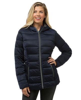 Women's blue winter puffer jacket