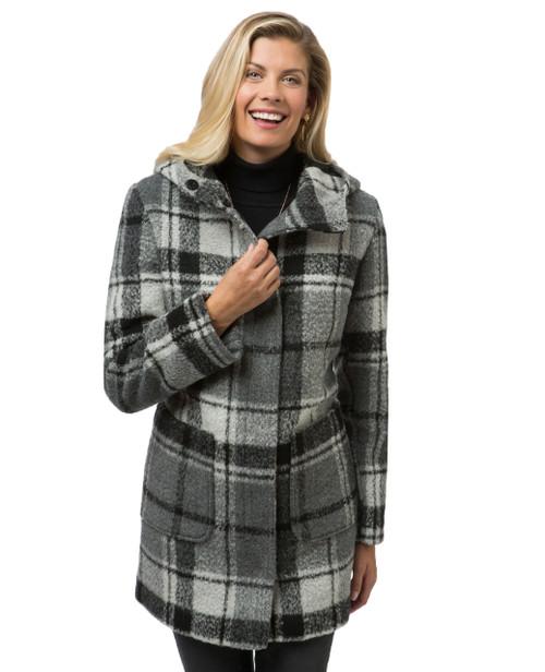 Women's grey plaid jacket