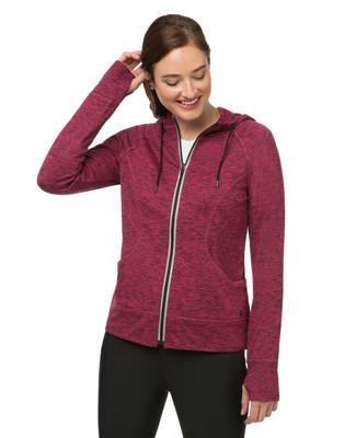 Women's fleece activewear jacket