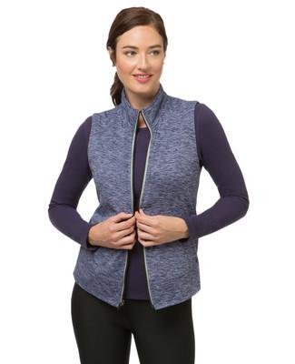 Women's fleece activewear vest