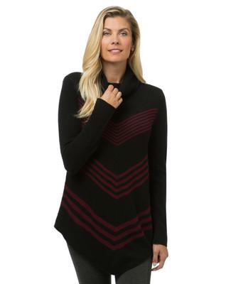 Women's black cowl neck sweater