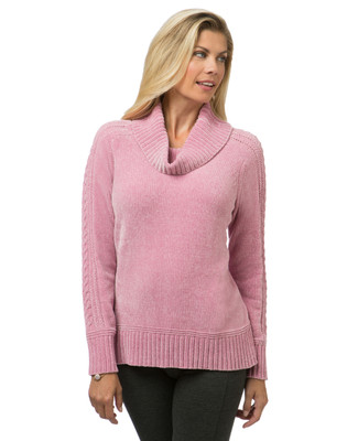 Women's chenille pullover sweater