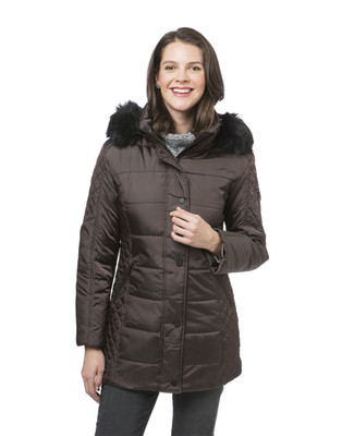Women's quilted winter jacket