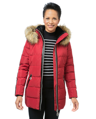 Quilted Fooler Down Jacket