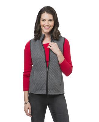 Women's grey quilted winter vest