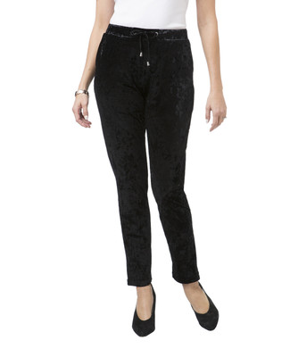 Women's black velour pants