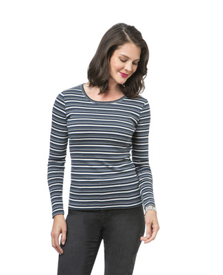 Women's striped long sleeve tee