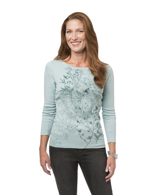 Women's green print top