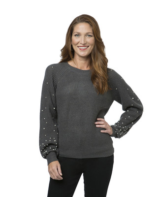 Women's sweater with pearl detailing