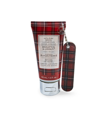 Holiday spice scented hand cream with nail file