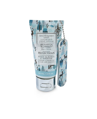 Snowberry mint scented hand cream with nail file