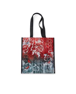 Festive reusable eco bag with cardinal print