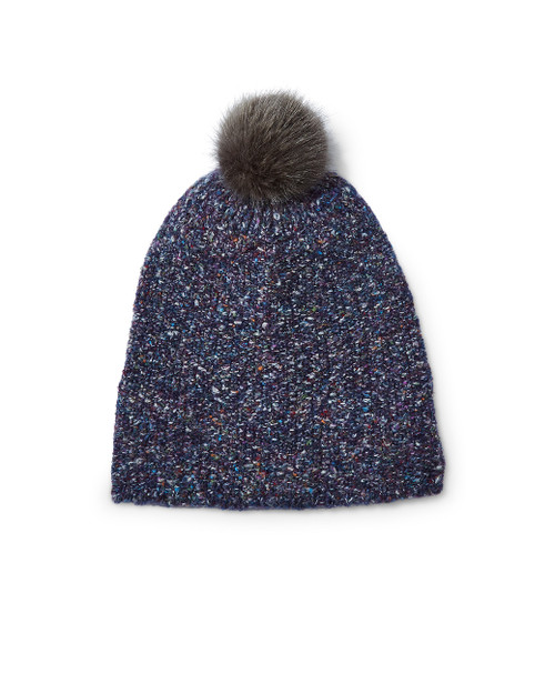 Women's pom pom knit hat