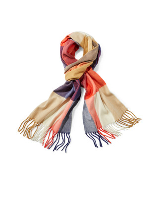 Women's plaid cashmink scarf