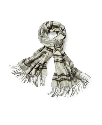 Women's plaid reversible scarf