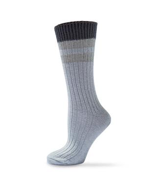 Varsity Lurex Detail Boot Socks