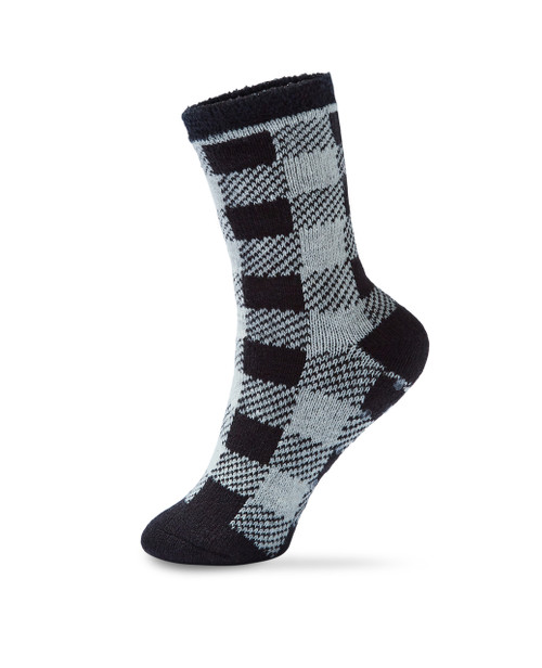 Women's plaid thermal slipper socks