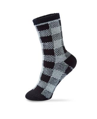 Women's plaid thermal slipper socks
