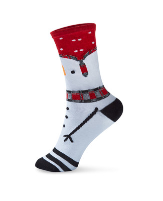 Women's snowman crew socks