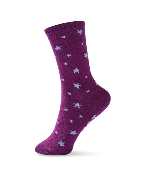 Women's crew socks with message on soles