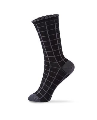 Women's Point Zero windowpane bamboo socks