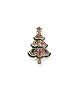 Women's Christmas tree brooch