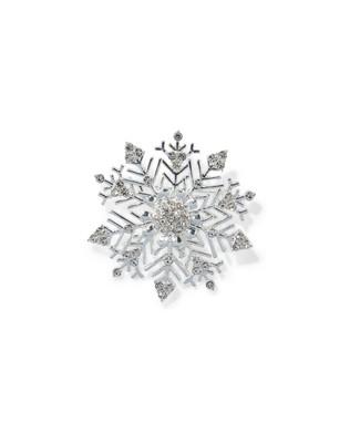 Women's snowflake festive brooch