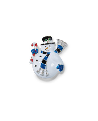 Women's snowman holiday brooch