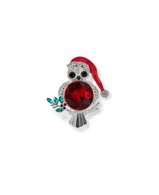Women's owl festive brooch