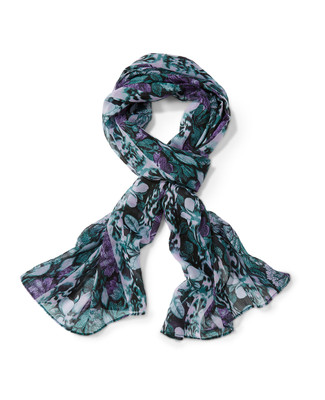 Women's black print scarf
