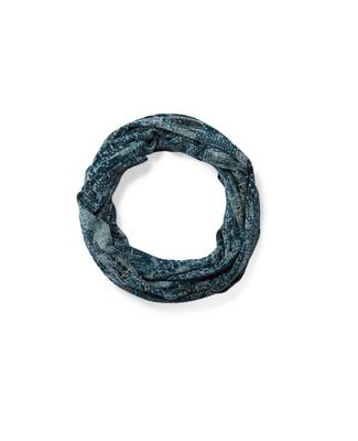 Women's blue infinity scarf
