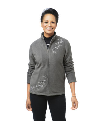 Women's grey embroidered jacket