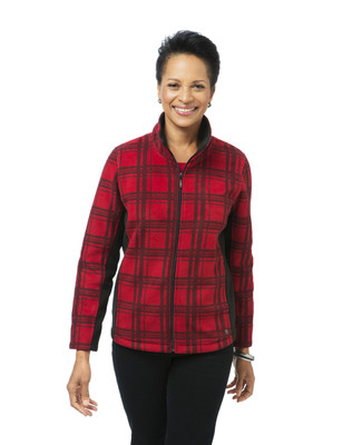 Women's red plaid jacket