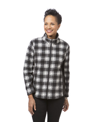 Women's black and white plaid jacket