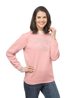 Women's snowflake print sweatshirt