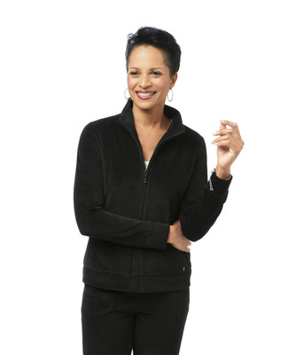 Women's black velour jacket
