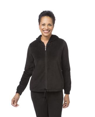 Women's Hooded Velour Jacket