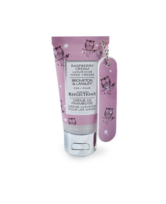 Raspberry scented hand cream with nail file