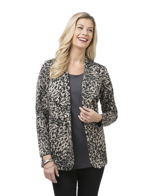 Women's animal print blazer