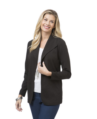 Women's black casual blazer